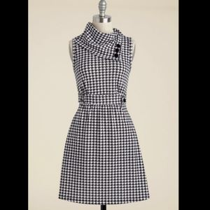 ModCloth Coach Tour dress in houndstooth